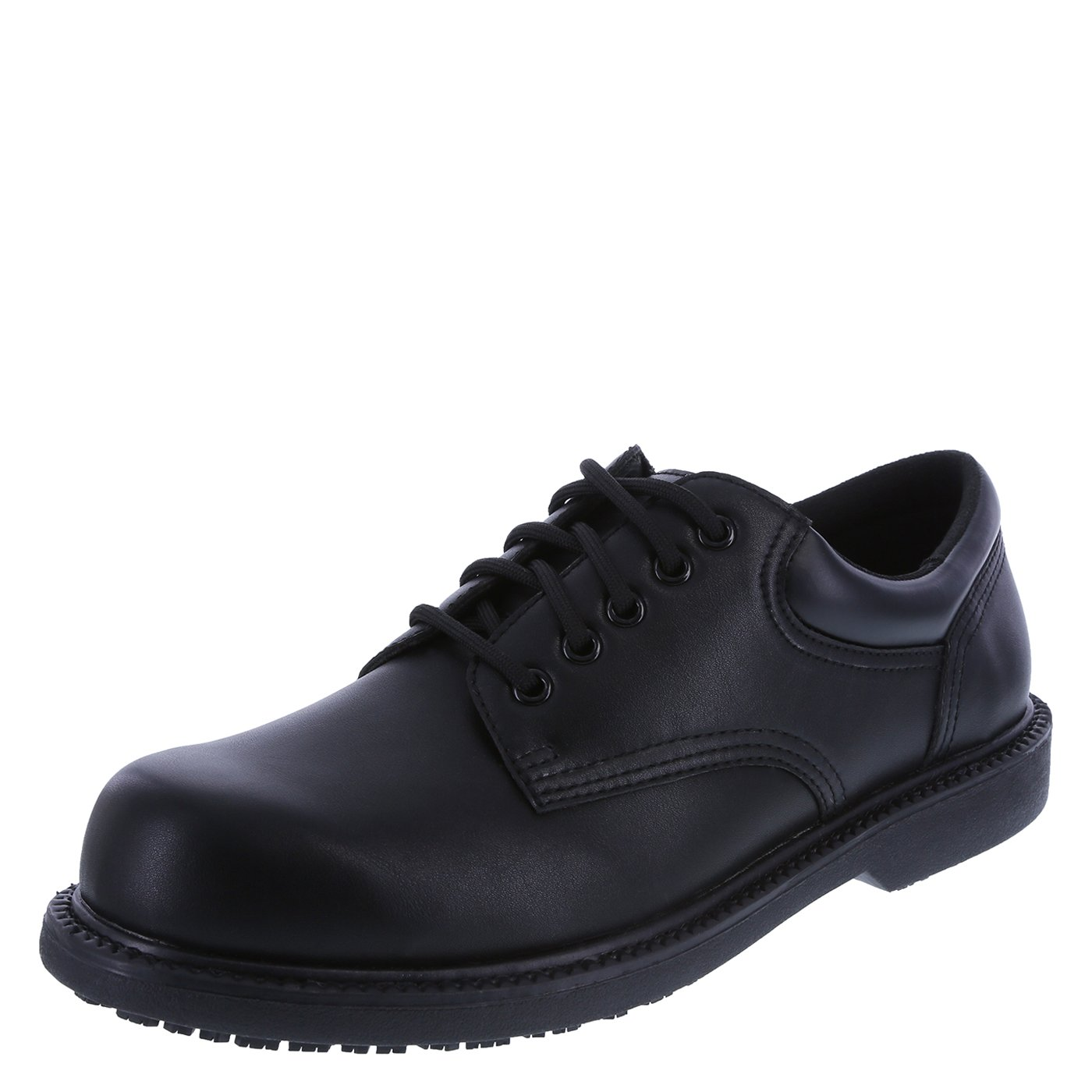 safeTstep Slip Resistant Men's Black Men's Manager Oxford 10 Regular by safeTstep