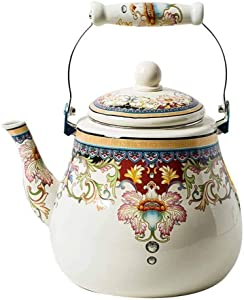 velocidad Practical 5L Enamel Kettle Kefu Teapot Kettle Milk Teapot Induction Cooker Universal Pot Induction Cooker Gas Universal