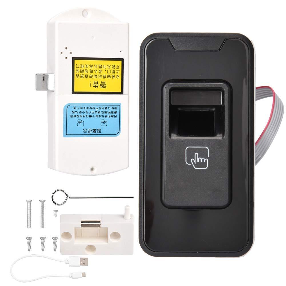 Intelligent Learning Type Fingerprint Lock Office Cabinet Security Anti-Theft Lock, Double Unlock Mode,Multi-User Management,Suitable for Gym Locker,Cupboard,Drawer,Shoe Cabinet