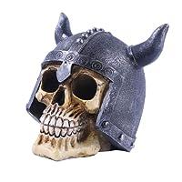 KESOTO Teschio Umano Skull Cranio Testa Decorazione Bar Festa Halloween Giorno Stagione Resina