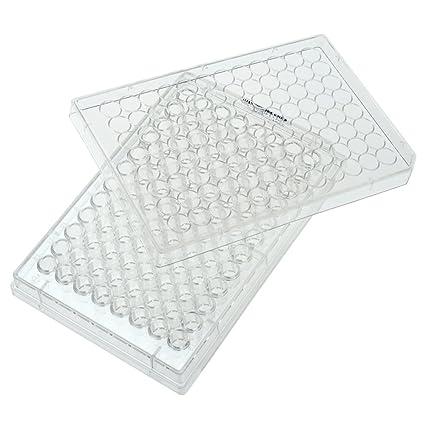 Plato de cultivo con tapa paquete individual 0,33 cm Celltratar 229196 96 caja de 100 est/éril zona de crecimiento celular