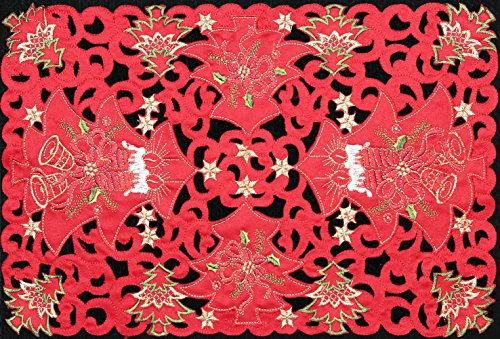 2-pcs-holiday-christmas-poinsettia-candle-bell-placemat-red-11x17