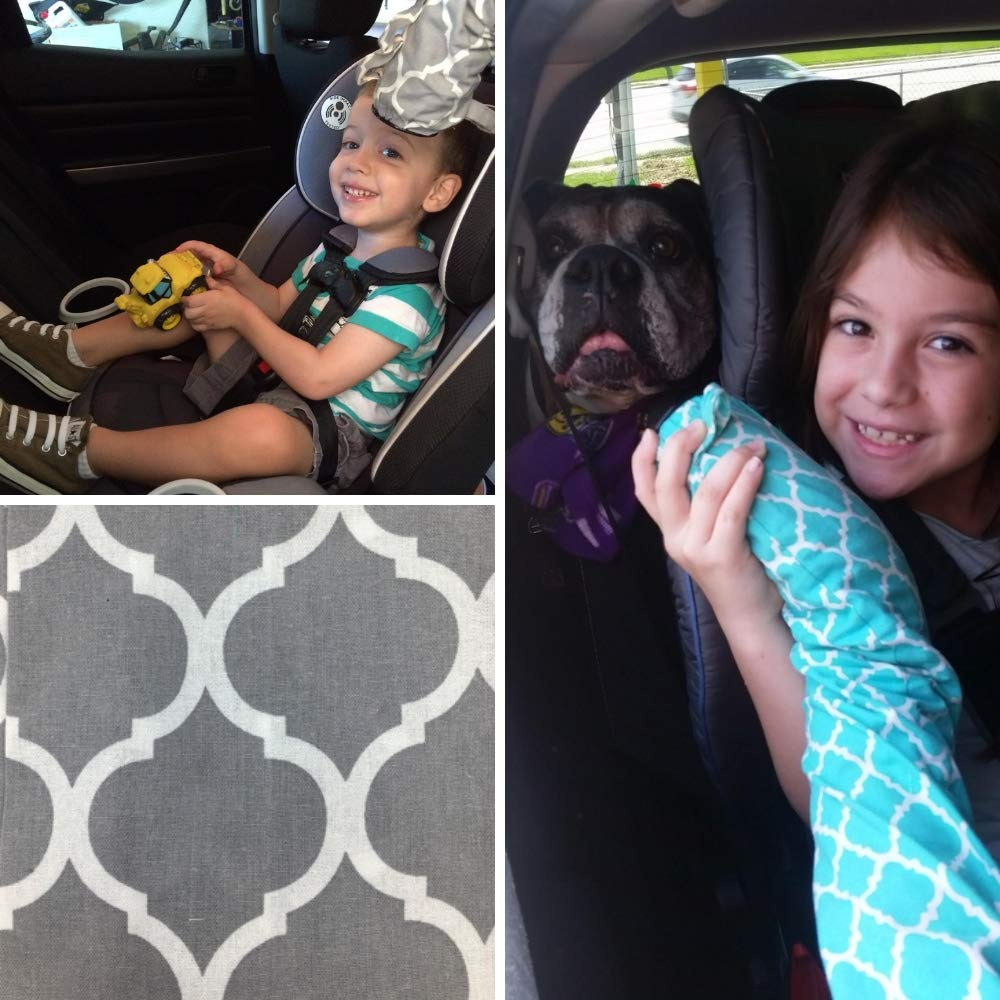 8ft Noggle Summer and Winter Vehicle Baby Traveling System to Keep Children Comfortable in The Car Happy Camper Extend Hot and Cold Air from Your Dash AC Vent to Kids in The Back Seat