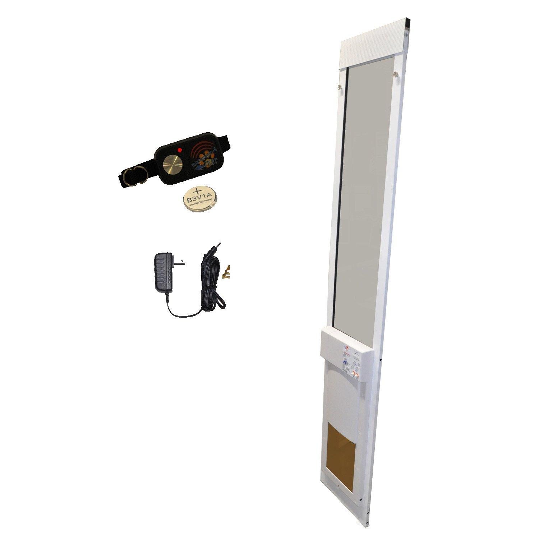 Medium Fully Automatic Low-E Sliding Glass Pet Door Regular Height