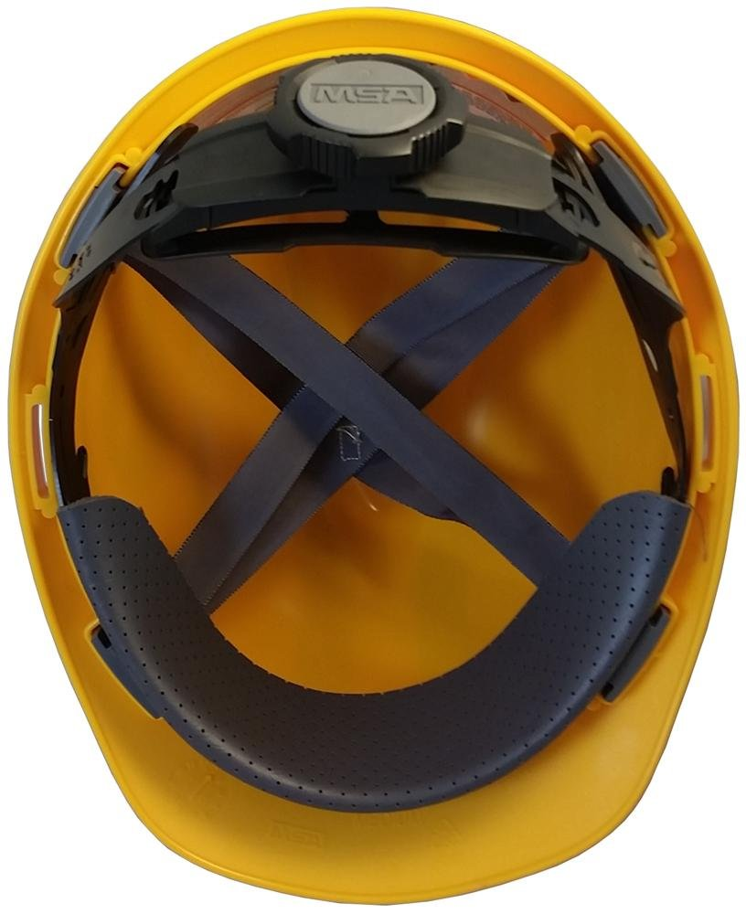 MSA NFL Ratchet Suspension Hardhats - Green Bay Packers Hard Hats by MSA (Image #3)