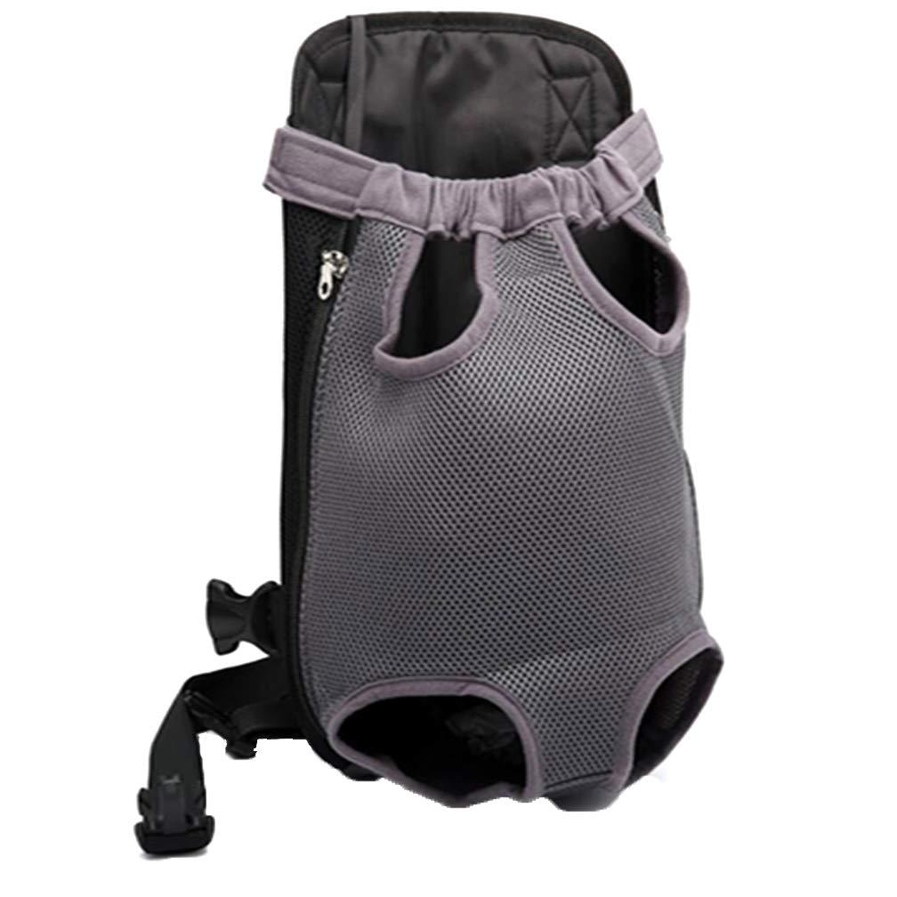 Pet Backpack, Dog Backpack, Breathable Travel Portable Pet Bag, Chest Bag, Adjustable, Waterproof, Zipper, Adhesive Design