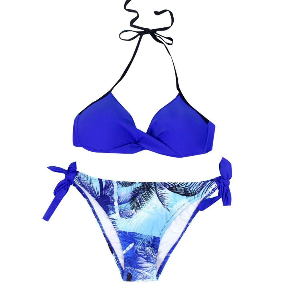 Longra❤ ❤ Womens Padded Push-up Beachwear, Sujetador Bikini Conjunto Traje de baño Traje de baño Traje de baño: Amazon.es: Ropa y accesorios