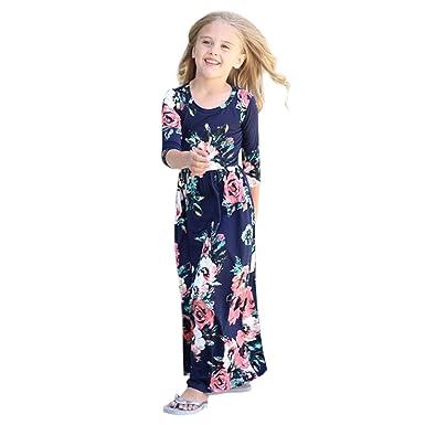 prix compétitif 1fce2 ab8b4 De feuilles Chic-Chic Robe Longue Fille Bébé Enfant Longue ...