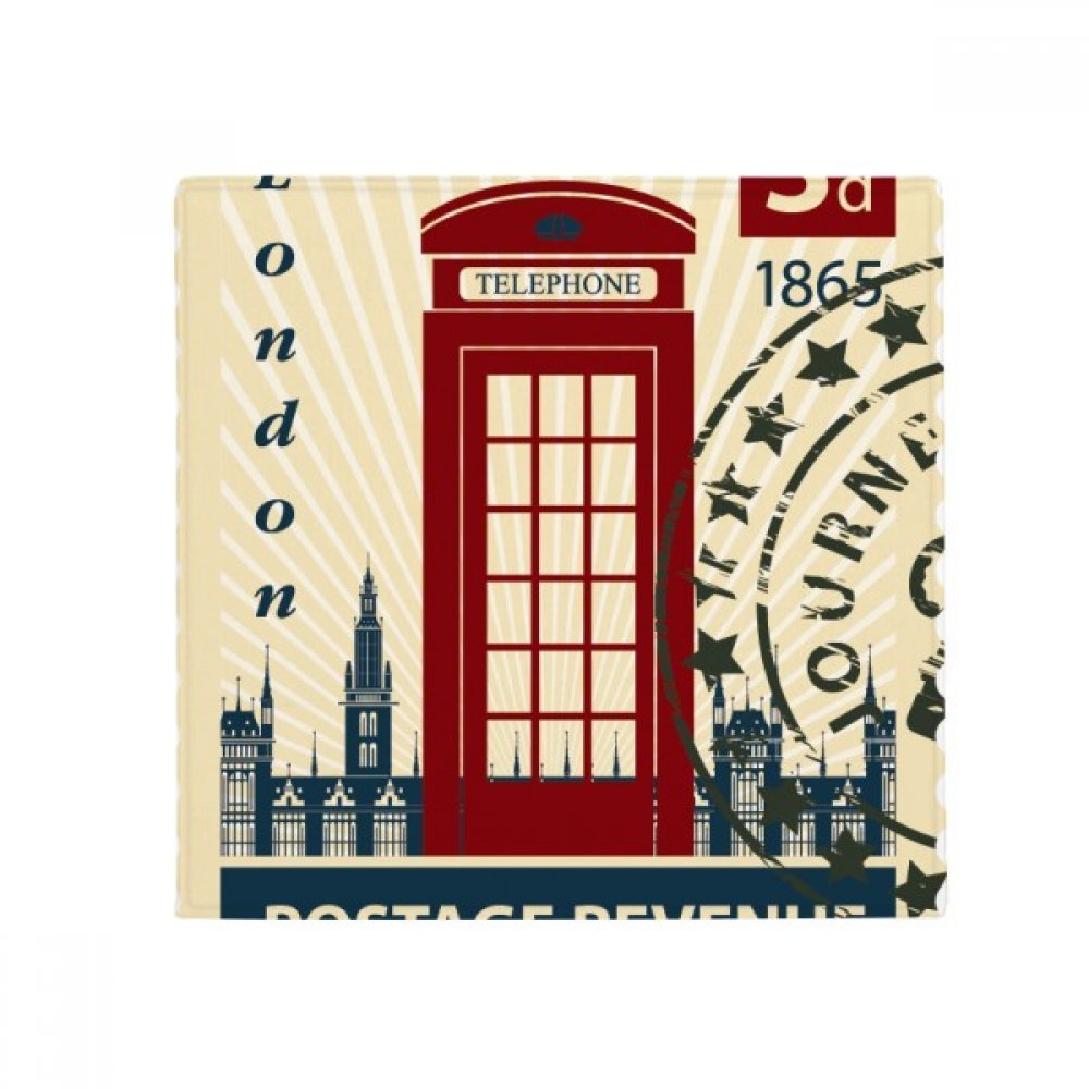 DIYthinker London Telephone Booth Stamp UK Country City Anti-Slip Floor Pet Mat Square Home Kitchen Door 80Cm Gift