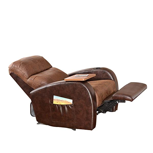 Soges Luxurious Manual Recliner Chair Lounge Sofa Home Theater Chair Living Room Chair, Brown SF535-ZX