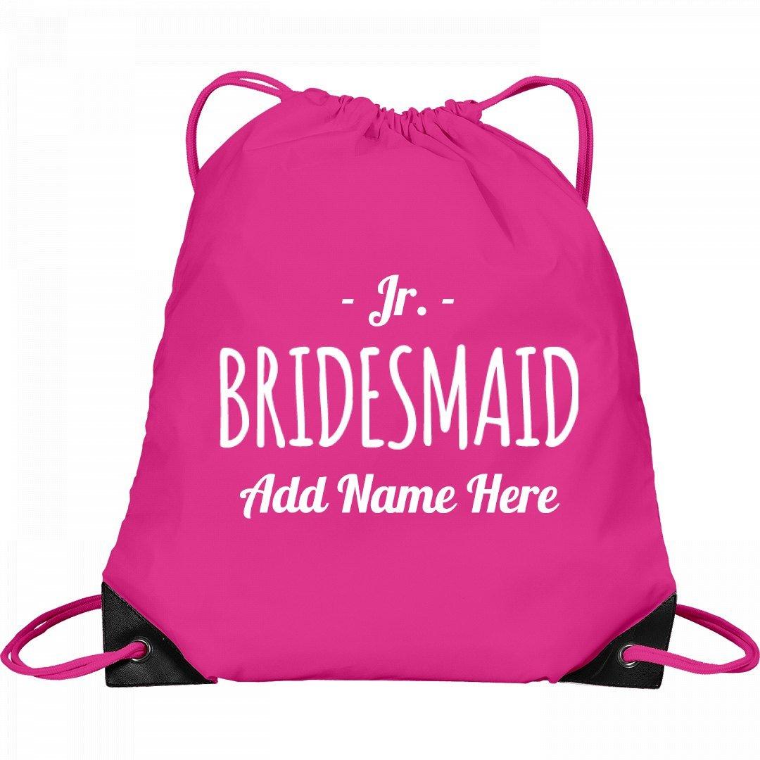 Custom Junior Bridesmaid Backpack: Port & Company Drawstring Bag