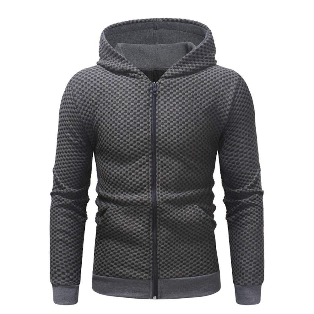 CIELLTE Homme Sweatshirt Sweats à Capuche Jumpers Confortable Jaquette Automne Hiver Blouson Couleur Unie Hooded Casual Manches Longues Chic Cool