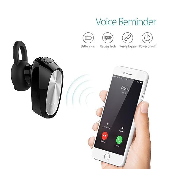 VTin Mini Bluetooth auricular con micrófono, Bluetooth 4.1 In-ear auricular con micrófono auricular manos libres para iPhone 7/7S Plus y todos los ...