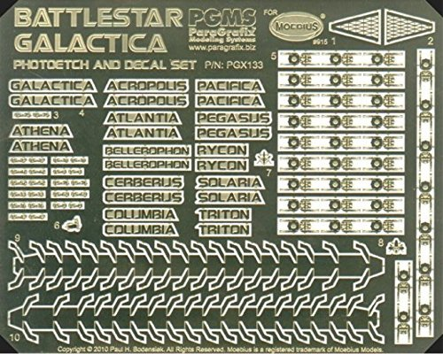 r Galactica Model Photoetch and Decal Set PGX133 ()