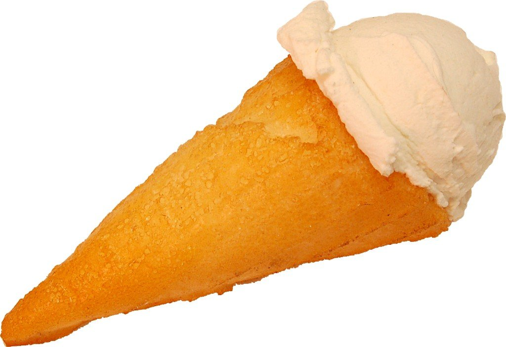 Vanilla Scoop Fake Ice Cream Waffle Cone