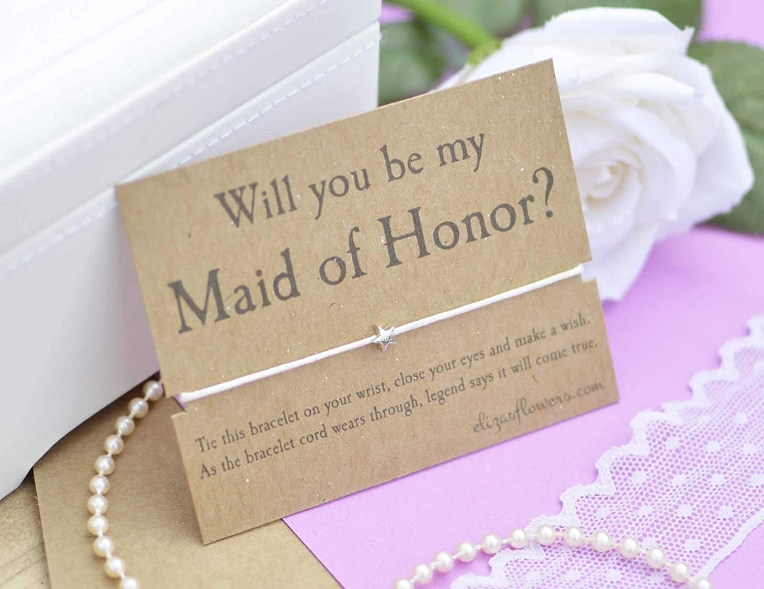 Maid Of Honour Wish Bracelet Will You Be My