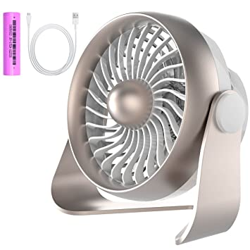 Great Small Desk Fan, Portable USB U0026 Rechargeable Battery Operated Mini Personal  Fan For Table,