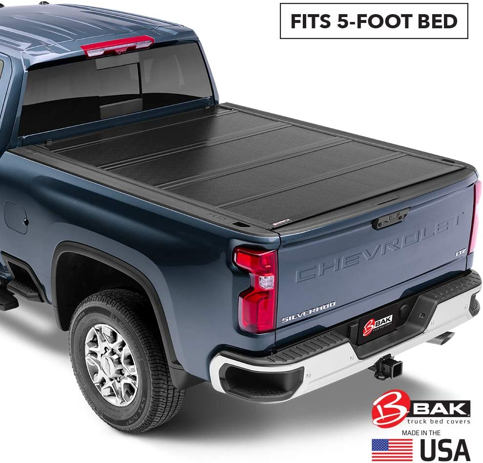 Amazon Com Bak Bakflip G2 Hard Folding Truck Bed Tonneau Cover 226126 Fits 2015 2021 Gm Colorado Canyon 5 3 Bed 62 7 Automotive