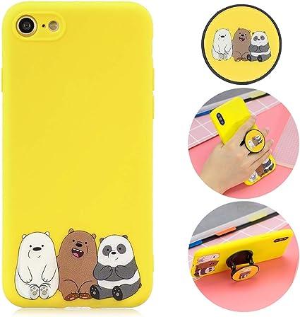 CoqueCase Cover iPhone 8 Silicone,Morbido con 3D Disegni Custodia ...