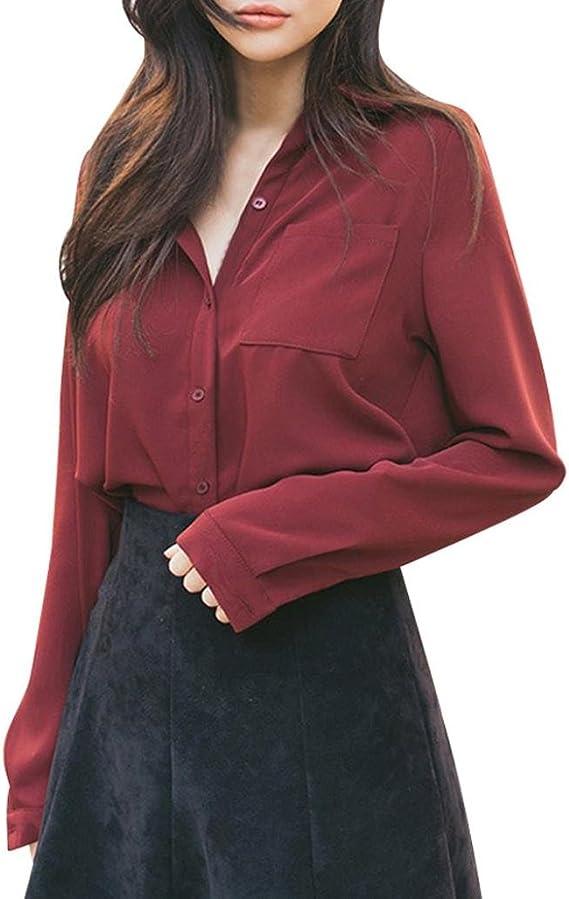 Camisa Trabajo Mujer, Camisa de Mujer Suelta Camisa de ...