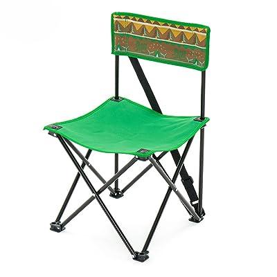 Anna Chaise d'escalade Outdoor Chaise pliante décontractée Chaise de plage Chaise de pêche Directeur Chaise en toile Chaise de repos confortable Vert (taille : Pack of 1)