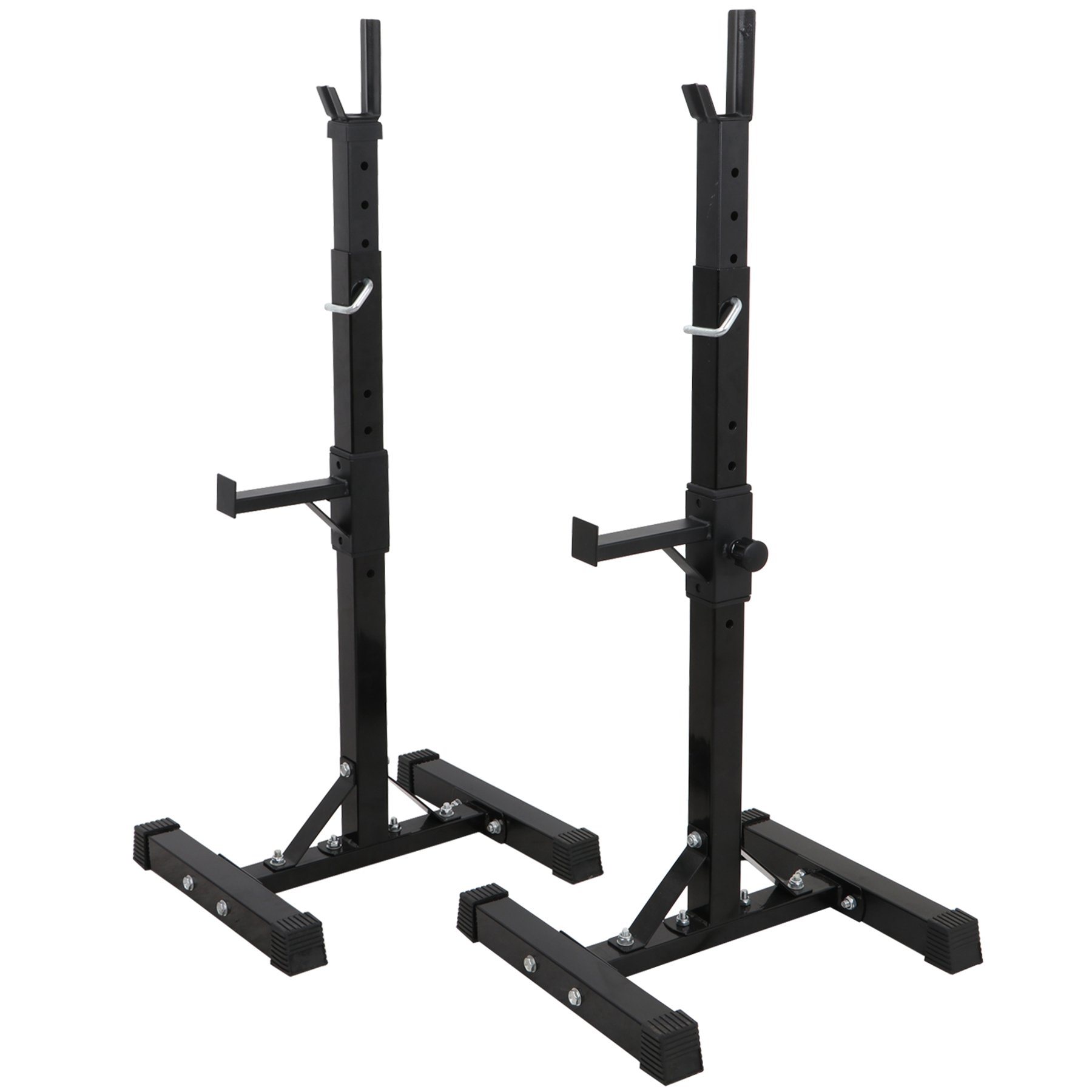 F2C Pair of Adjustable 41''-66'' Sturdy Steel Squat Rack Barbell Free Bench Press Stand Gym/Home Gym Portable Dumbbell Racks Stand Max 550lbs by F2C (Image #4)