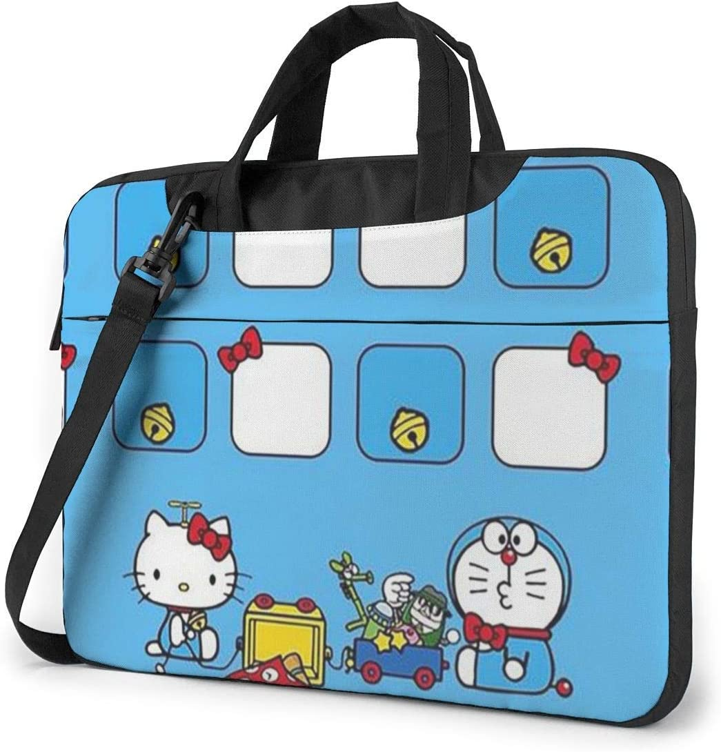14 Inch Laptop Bag Hello Kitty with Doraemon Laptop Briefcase Shoulder Messenger Bag Case Sleeve