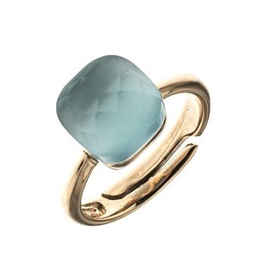 1f046a25d763f Anniversary Collection Ring Solitaire Sterling-Silber 925 rosè vergoldet  mit Stein aus blauem Geschenk Frau AR365  Amazon.de  Schmuck