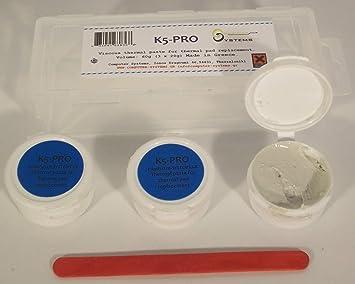 K5 PRO viscosa pasta térmica para el reemplazo de la almohadilla térmica 60g paquete 3X20g (iMac de Apple, Sony PS4 y PS3, XBOX, Acer Aspire etc): ...