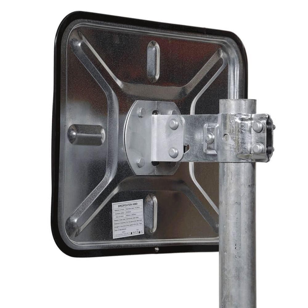 langlebig TMS PRO SHOP Edelstahl-Verkehrsspiegel 45 x 60 cm aus Stahl,Kunststoff rot//wei/ß rechteckig