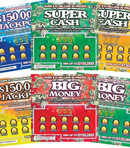 FMPLT- Fake Joke Prank Lottery Tickets Scratch Off - All Win $50,000 - The Ultimate Prank (Multi-Pack A)