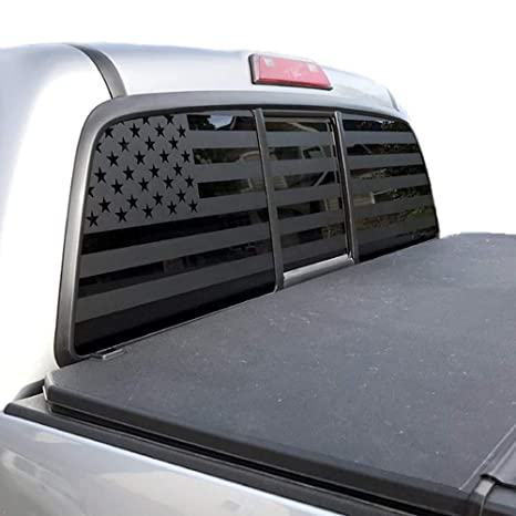 Truck Back Window Decals >> Xplore Offroad American Flag Truck Decal For Rear Window Tailgate Black Die Cut