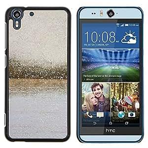 Stuss Case / Funda Carcasa protectora - Río Las gotas de lluvia de vidrio borrosa gris verano - HTC Desire Eye ( M910x )