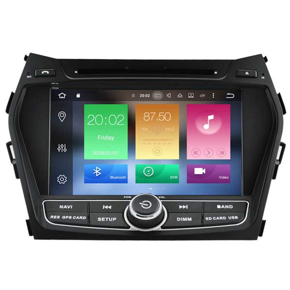 Autosion Android 8.0 Octa Core 64 Bit iNand 32GB 4GB Car DVD Player GPS Stereo Head Unit Navi Radio Stereo WiFi for Hyundai Santa Fe ix45 2013 2014 2015 ...
