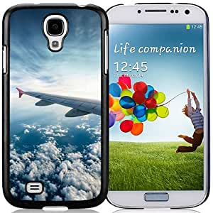 NEW DIY Unique Designed Samsung Galaxy S4 I9500 Phone Case For White Clouds Aircraft Phone Case Cover