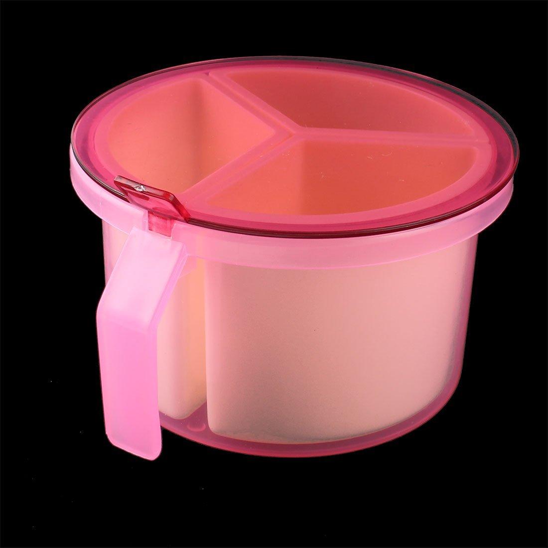 Amazon.com | eDealMax plástico Domésticos de Cocina 3 compartimientos condimento Box Contenedor Condimentos Especias Caja rosada: Condiment Pots