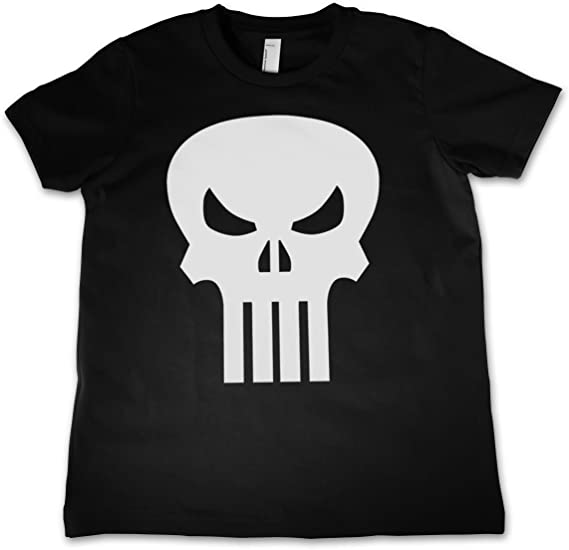 Officially Licensed The Punisher Skull Unisex Kids T-Shirt Ages 3-12 Years