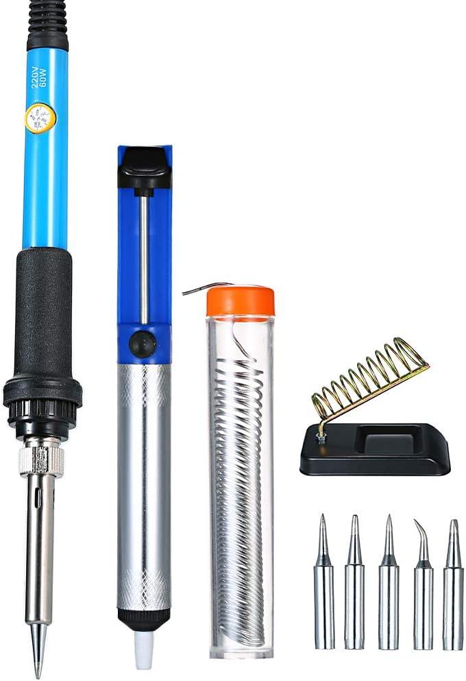 220V 60W Kit de herramientas de soldadura el/éctrica de soldadura de temperatura ajustable 110V