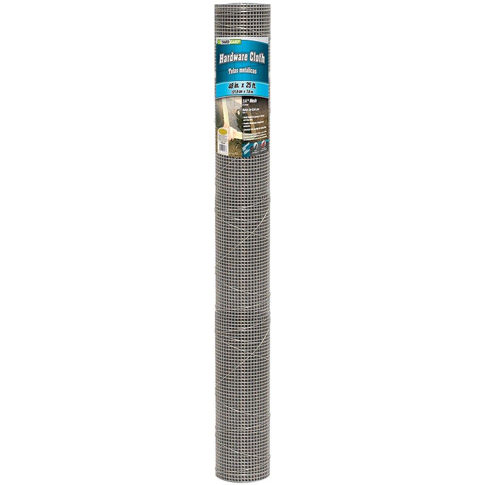 YARDGARD 308236B 23 Gauge 1/4 Inch Mesh 4 Foot x 25 Foot Galvanized Hardware Cloth