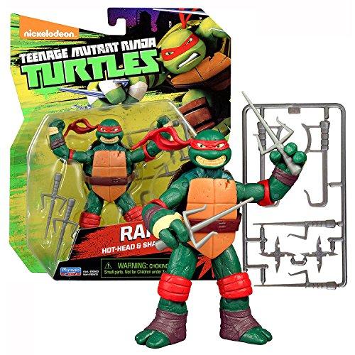 Playmates Year 2015 Teenage Mutant Ninja Turtles 4 Inch Tall Figure - Hot Head & Sharp Sai Expert RAPHAEL with Sais, Hook Sword and Shuriken Stars