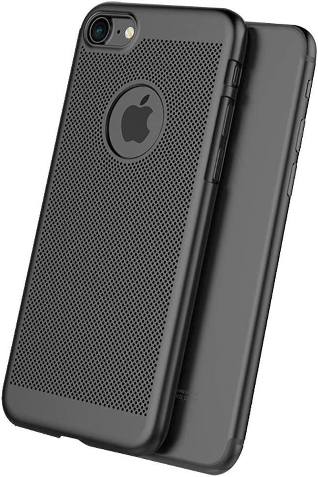 iPhone 7 Case/iPhone 8 Case,Lightweight, Scratch Resistant,Breathable, Compatible with iPhone 8 & iPhone 7 (NOT Plus) - Black