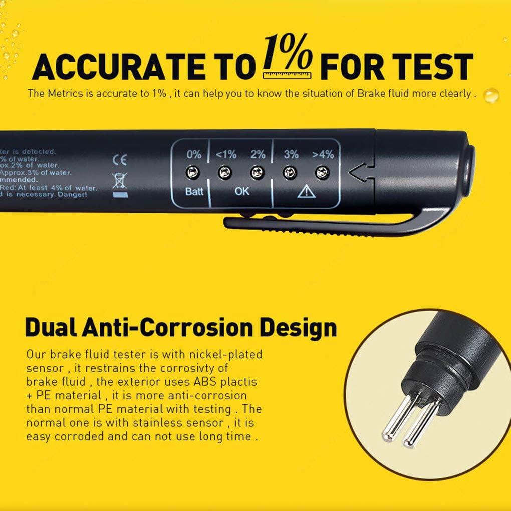 Diamoen Bremsflüssigkeitstester Automotive Bremsflüssigkeit Öl Detektor Test Feder Dot3 Dot4 Dot5 1 Auto Prüfvorrichtung Werkzeug Küche Haushalt