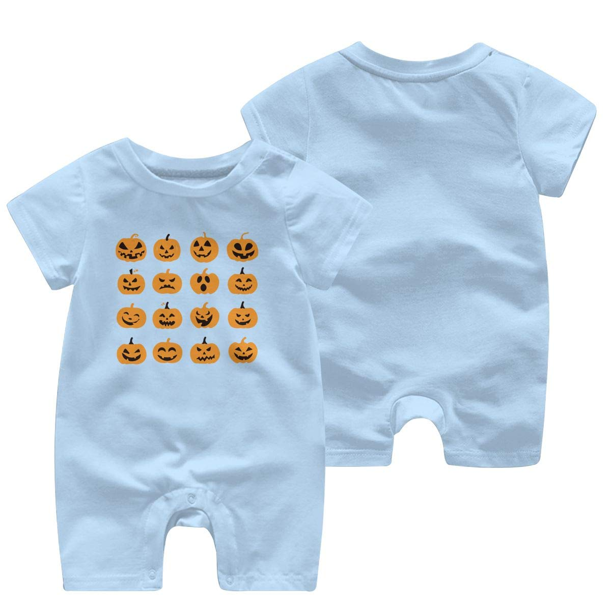 Just Born Baby Boys Girls Bodysuits Pumpkin Face Cotton Short Sleeve Infant Clothing