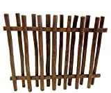 "Master Garden Products TPF-48 Teak Wood Picket Fence, 40"" H x 48"" L, Brown"