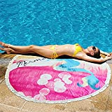 Olyphy Colorcolor Outdoor Beach Towel Beach Blanket Tapestry Absorbent Microfiber Bath Beach Towel with Fringe Tassels