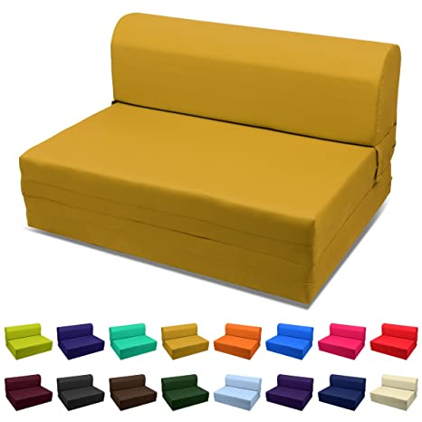 Remarkable Single Size Sleeper Chair Folding Foam Bed Ottoman Cinnamon Golden Cjindustries Chair Design For Home Cjindustriesco