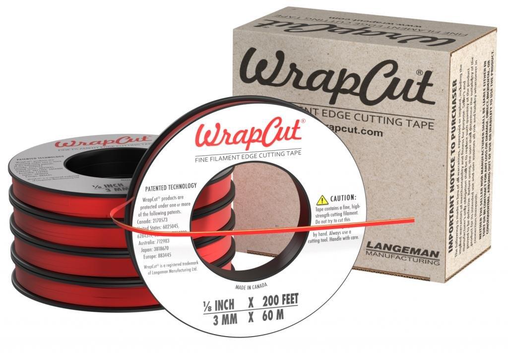 WrapCut, Edge Cutting Tape, 1/8-Inch X 200 Feet, 5-Pack by WrapCut