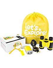 Outdoor Exploration Kit - Gifts Toys for 4-12 Years Old Boys Girls ,Adventure Explorer Toys Set-Binoculars,Compass,Magnifying Glass ,Camping Hiking Educational Pretend Play for Kids Birthday Present