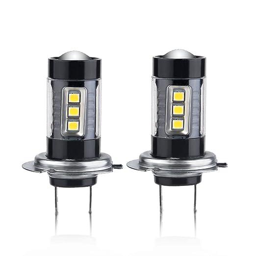 3 opinioni per COPPIA LAMPADE H7LED 80W, midore LED fascio luce di nebbia della lampada