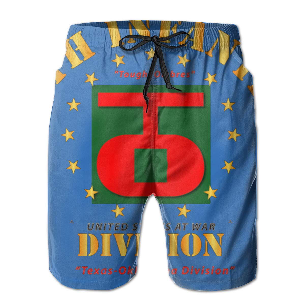 90th Infantry Division Tough Ombres Mens Swim Trunks Board Shorts